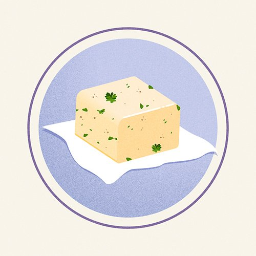 Illustration of Compound Butter