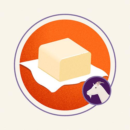 Illustration of Goat Butter
