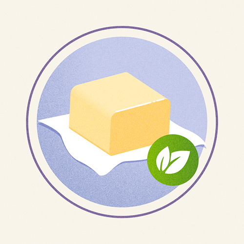 Illustration of Organic Butter