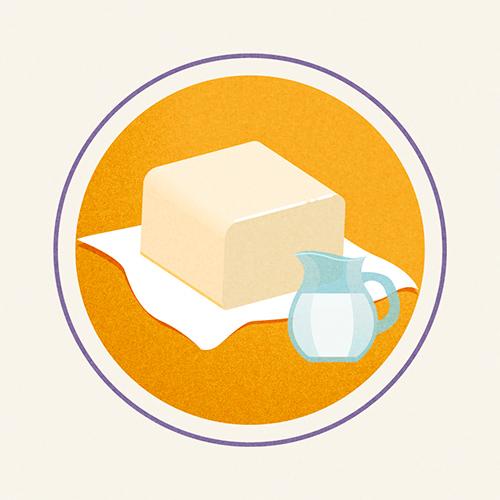 Illustration of Sweet Cream Butter