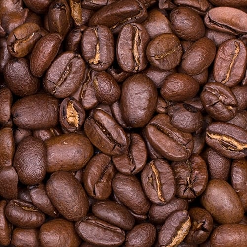 Dark roast whole coffee beans