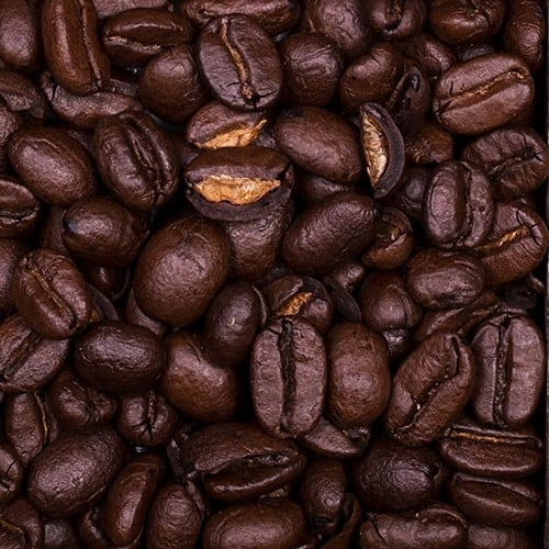 Extra dark roast whole coffee beans