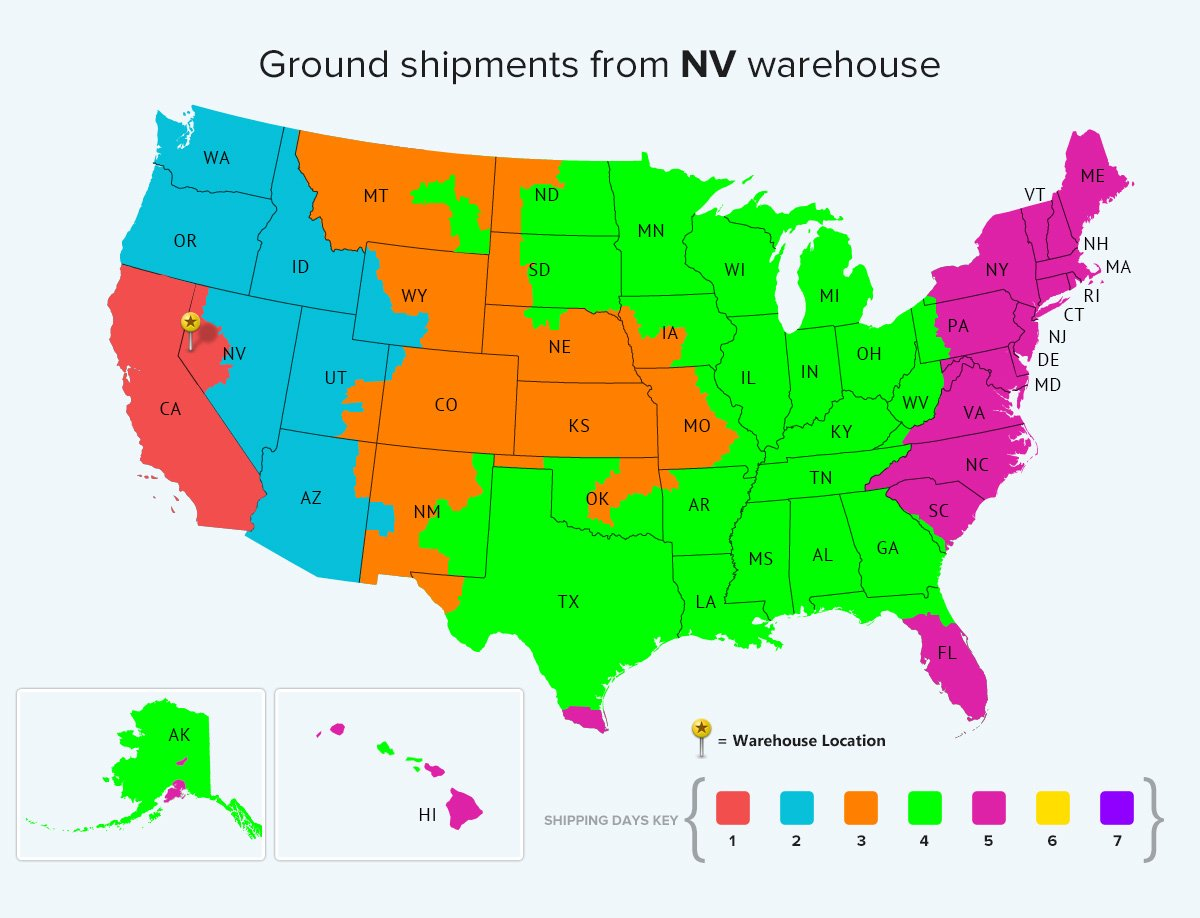 Nevada Ground Warehouse Location Shipping