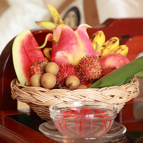 Luxurious Room Service Fruit Basket