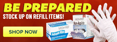 Refill items for your first aid kit!