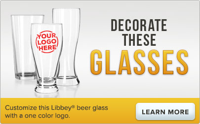 Customize this Libbey beer glass with a one color logo
