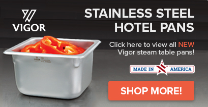 Vigor steam table hotel pans