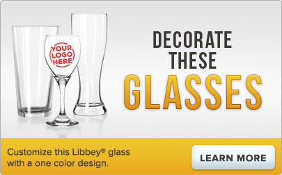 Customize this Libbey glass with a one color logo