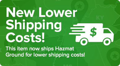 This item now ships Hazmat Ground for lower shipping costs!