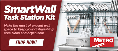 Metro SmartWall Dish Wash Task Station Kit