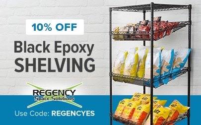Regency Black Epoxy Shelving