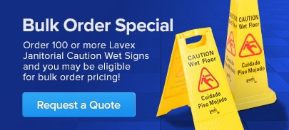 "Lavex Janitorial 25"" Caution Wet Floor Sign"