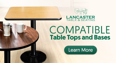 Lancaster Table & Seating Sizing Guide
