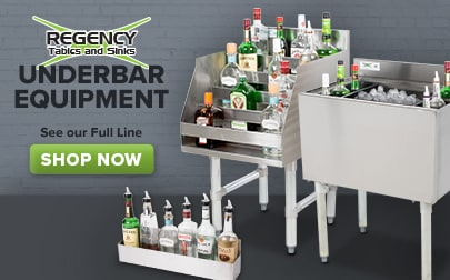 Shop Our Full Line of Regency Underbar Equipment