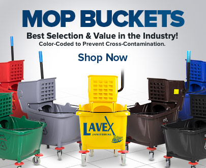 Shop Our Full Line of Colored Lavex Mop Buckets