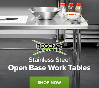 Shop Stainless Steel Open Base Work Tables