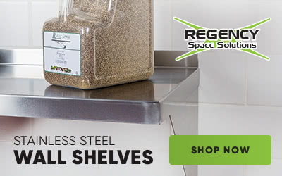 Shop Regency stainless steel wall shelves