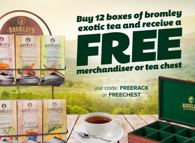 Free Rack or Chest with Exotic Tea Purchase