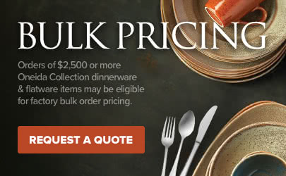 Get bulk order discount on Oneida dinnerware and flatware
