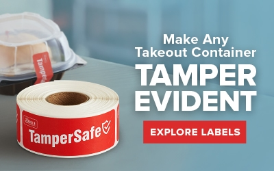 Shop Tamper Evident Labels for Take Out Containers