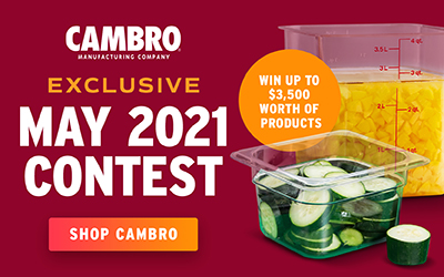 Shop Cambro for a Chance to Win Up to $3,500 Worth of Cambro Products