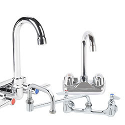 Restaurant Faucets And Plumbing. Wall Mount Faucets
