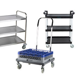 Dish Cleanup and Storage Carts