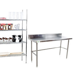 Sinks, Shelving, and Work Tables