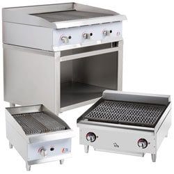 Commercial counter top Gas Lava Rock Grill | Well Link Machinery