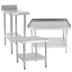 Stainless steel prep tables kitchen work tables commercial work tables and stations watchthetrailerfo