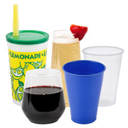 plastic cups and lids