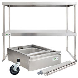 work table and equipment stand accessories - Stainless Steel Prep Table