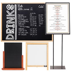 Restaurant Signs Business Signs - Restaurant table tents and menu sign displays