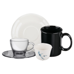 Mugs, Cups, and Saucers