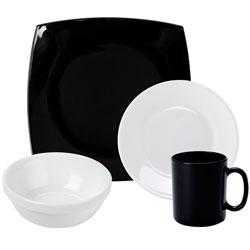 Black and White Glass Dinnerware