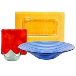 Colorful Glass Dinnerware