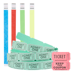 Wristbands and Tickets