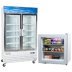 Merchandising Reach-In Freezers