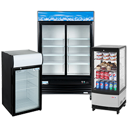 Merchandising Reach-In Refrigerators