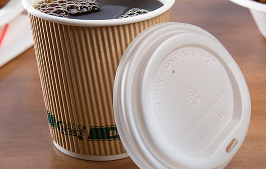 EcoChoice Biodegradable Paper Hot Cups and Lids