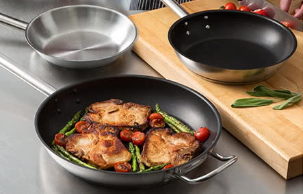 Vigor Stainless Steel Frying Pans