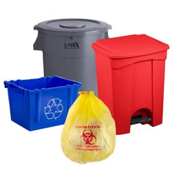 Trash Cans and Recycling Bins